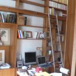 Echelle sur mesure pour bibliothèque Iroko.