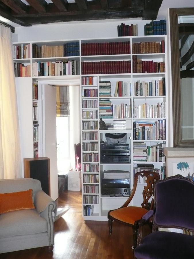 Bibliothèque Encadrement De Porte Yves Jaffré Agencements - Porte bibliothèque