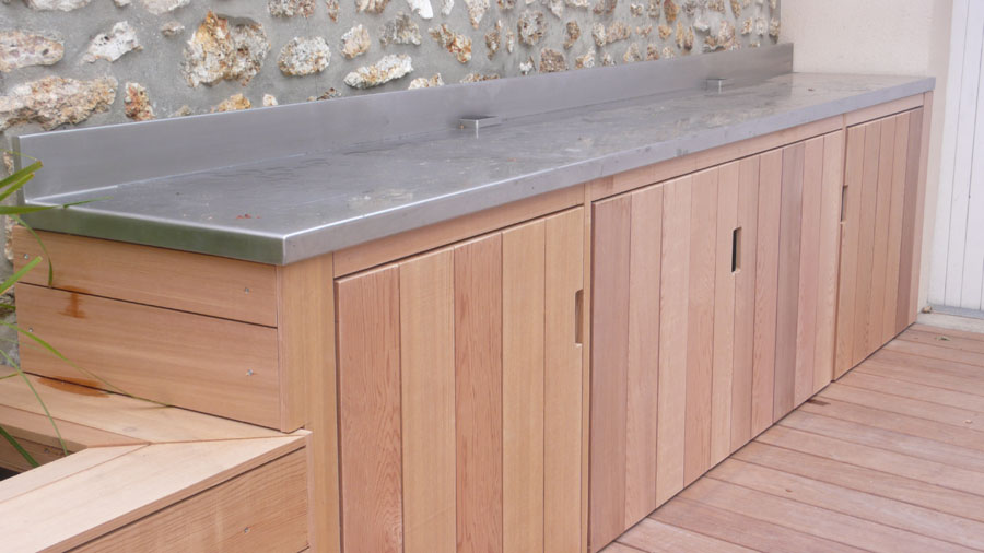 Outdoor yves jaffr agencements for Cuisine outdoor