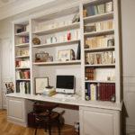 Bureau-Bibliotheque MDF peint.