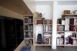 Bibliothèque en Baubuche sur mesure Yves Jaffre